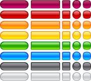 Enkla blanka knappar. Arkivfoto