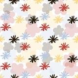 Enkla blommor stock illustrationer