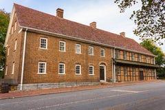 Enkla bröders hus på gamla Salem Arkivbild
