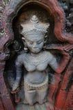 Enkla Devata på Preah Khan Temple, Siem Reap Royaltyfria Foton