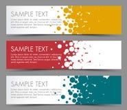 Enkla färgrika horisontalbaner - med cirkelbevekelsegrund royaltyfri illustrationer