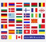 Enkla flaggor Royaltyfria Foton