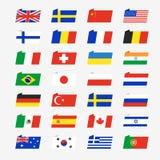 Enkla flaggor av länderna Royaltyfri Illustrationer