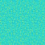 Enkla geometriska gl?dande rundor och linjer p? ljust - bl? bakgrund Bleka ljus p? s?ml?sa modeller f?r abstrakt vektor f?r texti vektor illustrationer