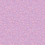 Enkla geometriska gl?dande rundor och linjer p? mjuk rosa bakgrund Bleka ljus p? s?ml?sa modeller f?r abstrakt vektor f?r textil, stock illustrationer