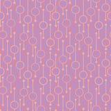 Enkla geometriska gl?dande rundor och linjer p? mjuk bakgrund Bleka ljus p? s?ml?sa modeller f?r abstrakt vektor f?r textil, tryc vektor illustrationer