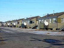 Enkla golvhus i Kuujjuaq arkivbilder