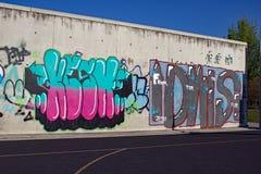 enkla grafitti Royaltyfri Foto
