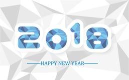 2018 enkla handstil poly för lyckligt nytt år lågt Royaltyfri Fotografi