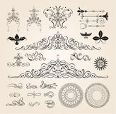 enkla modeller för illustrationer för garneringdesignelement Fotografering för Bildbyråer