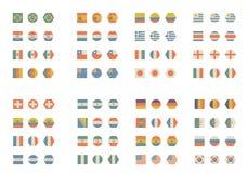Enkla och tappningflaggor vektor illustrationer
