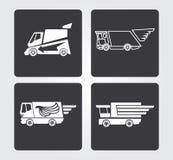 Enkla rengöringsduksymboler: hemsändning Fotografering för Bildbyråer