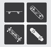 Enkla rengöringsduksymboler: Skateboard Royaltyfria Foton