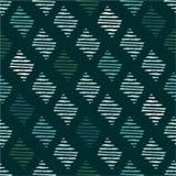 Enkla seamless mönstrar Hand drog trianglar Arkivfoton