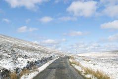 Enkla snöig däckspår - stående Royaltyfri Foto