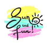 Enkla sol och gyckel - inspirera och det motivational citationstecknet vektor illustrationer