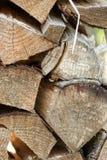 Enkla stycken av trä Royaltyfria Bilder