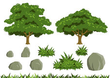 Enkla trädvektorer Arkivfoton