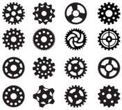 Enkla vektorkugghjul Arkivfoto