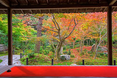 Enkoji temple at falls, Kyoto Stock Image