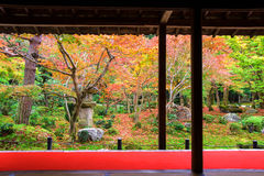 Enkoji temple with Japanese autumn Garden Stock Photos