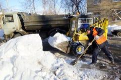 Enlève la neige Images libres de droits