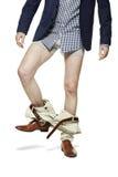 Enlèvement du pantalon Photographie stock