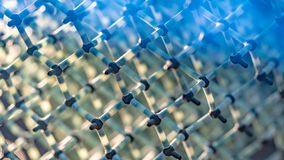 Enlace covalente químico de la molécula de agua imagen de archivo libre de regalías