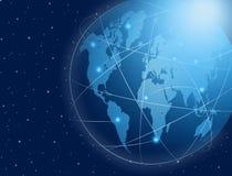 Enlace de comunicaciones global Foto de archivo libre de regalías