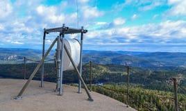 Enlace por radio en palo de la telecomunicación de Skien Imagen de archivo libre de regalías