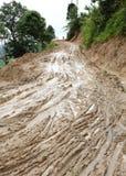 Enlameado molhado da estrada do campo Imagens de Stock