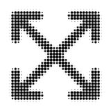 Enlarge Arrows Halftone Dotted Icon stock illustration