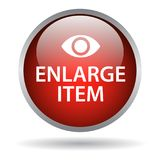 Enlarge item. Web button icon of vector illustration on isolated white background with shadow vector illustration