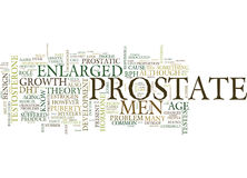 Enlarged Prostate The Cause Remains A Mystery Text Background Word Cloud Concept stock images