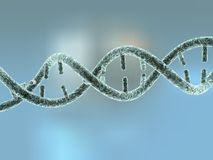 Enlarged view of DNA model Royalty Free Stock Photos
