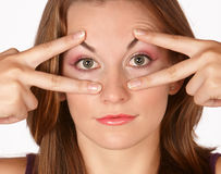 Enlarging eyes Stock Image