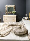 Enlighted bedroom Royalty Free Stock Photos