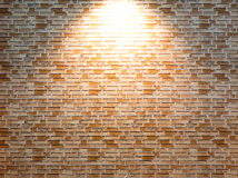 Enlighted brick wall Royalty Free Stock Photography