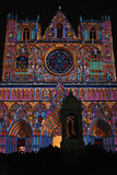 Enlighted Saint-Jean Cathedral Royalty Free Stock Photography