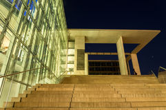 Enlighted stairs in a clear night. In Berlin Stock Images