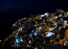 Oia by night royalty free stock image