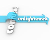 Enlightened Arrow Vs Confusion Enlightenment in Life Stock Photo
