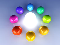Enlightened Color wheel Royalty Free Stock Photo