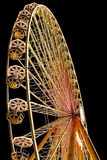 Enlightened ferris wheel by night Stock Photography