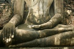 Enlightened one sukothai buddha statue thailand Royalty Free Stock Photos