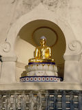 Enlightenment. Buddha statue in Peace Pagoda Leveret Massachusetts stock photography