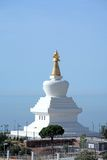 Enlightenment Stupa Buddhist Temple in Spain royalty free stock photography