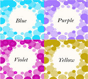 enmarque los colores modelados de la lila, de la púrpura, amarillos y azules Imágenes de archivo libres de regalías