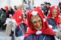 Enmascarados en el carnaval Fastnacht Imagen de archivo libre de regalías