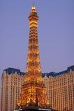Paris Las Vegas på solnedgången Royaltyfri Foto